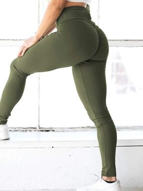 Scrunchy Leggings – High-Waist Butt-Lifting – Green BFB