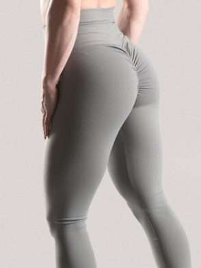 Scrunchy Leggings HoneyComb – High-Waist Anti-Cellulite – Grey BFB