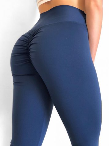 Scrunchy Leggings – High-Waist Butt-Lifting – Navy BFB