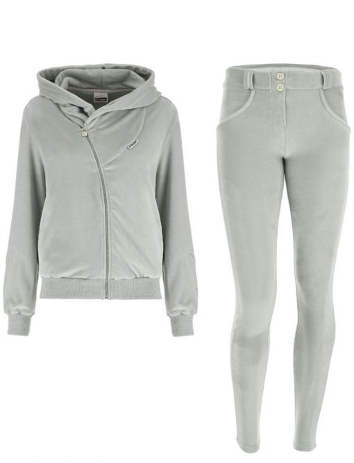 FREDDY WR.UP Chenille Tracksuit with with a hood and pants-gray-S9WTRK6