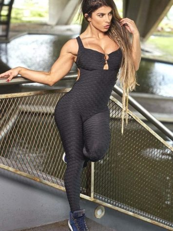 BFB Jumpsuit – Brocade w/Bojo (Black)