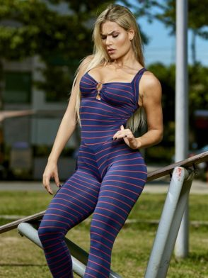 Jumpsuit Volcano Striped – One Piece (Purple)
