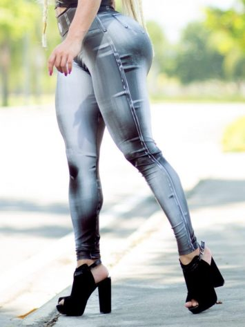 DYNAMITE BRAZIL Leggings L400 Denim Bodypaint Black-Sexy Workout Legging