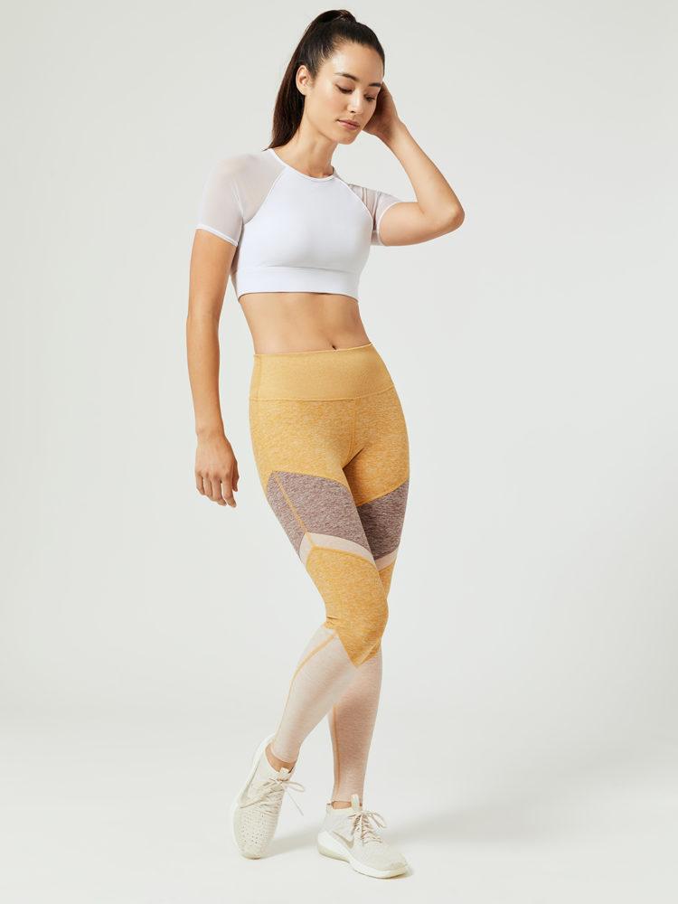 e7a09a577b8ef ALO Yoga Fortitude Raglan Sports Bra Top (white) - Sexy Workout ...