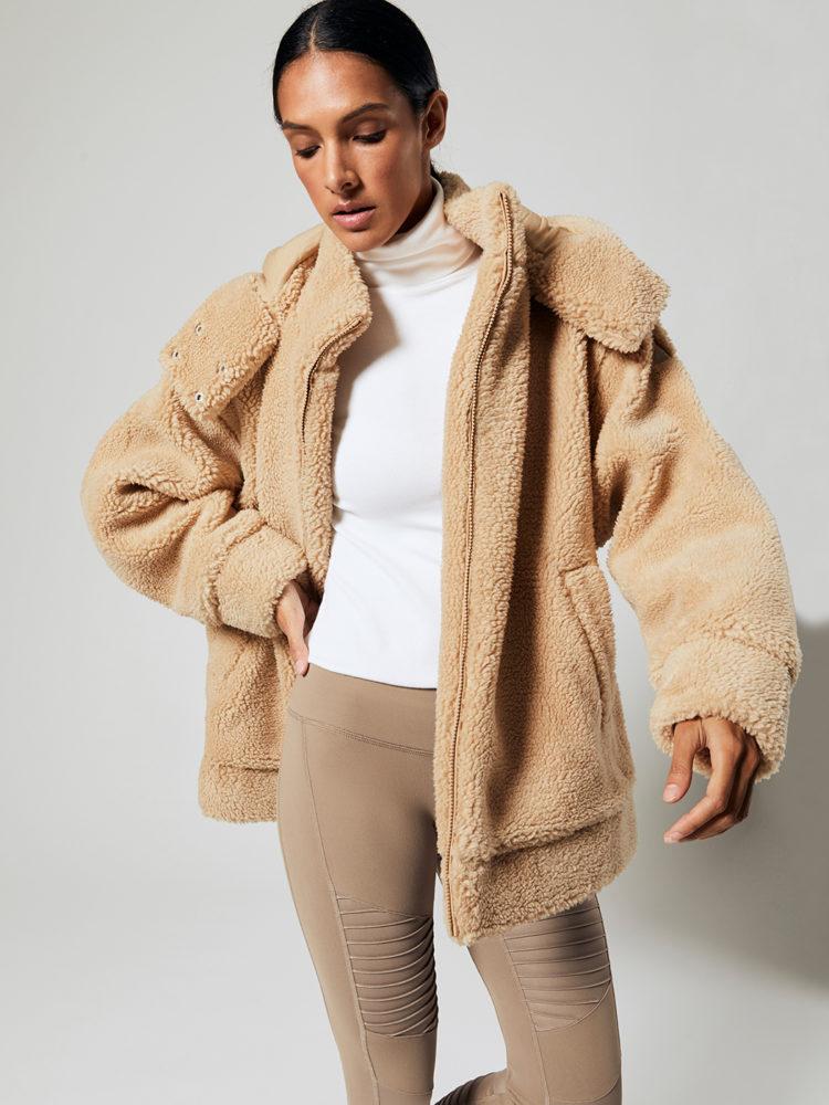 ALO Yoga Norte Sherpa Coat (Camel)