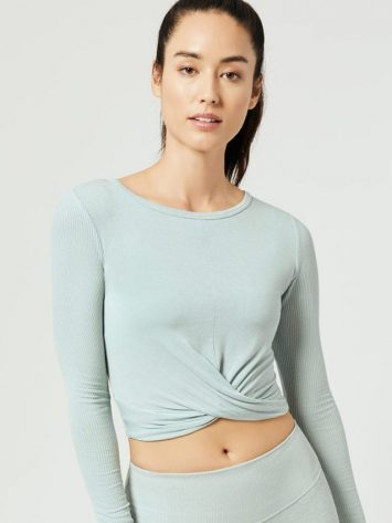 ALO Yoga Cover Long Sleeve Tank (cloud)