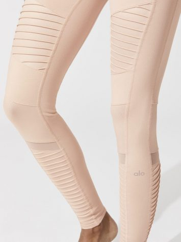 ALO Yoga High-Waist Moto Leggings (nectar)