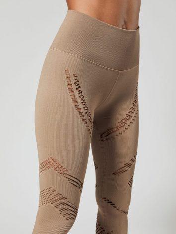 ALO Yoga High-Waist Seamless Radiance Legging (gravel)