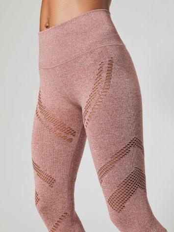 ALO Yoga High-Waist Seamless Radiance Legging (rosewood heather)