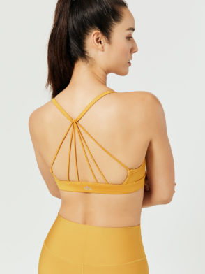 ALO Yoga Sunny Strappy Sports Bra Top (tuscan)