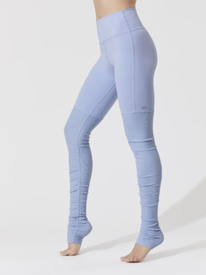 ALO Yoga High-Waist Goddess Legging (UV Blue-Blue Heather)