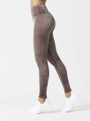 ALO Yoga High Waist Posh Legging (raisin)