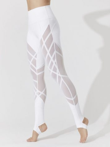 ALO Yoga High-Waist Wrapped Stirrup Legging (white)