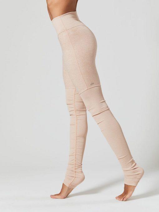 ALO Yoga High-Waist Goddess Legging (Nectar Heather)