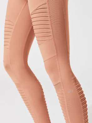 ALO Yoga High-Waist Moto Legging (Henna)