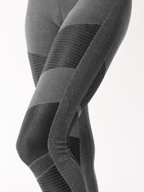 ALO Yoga High Waist Seamless Moto Legging (Anthracite Heather)