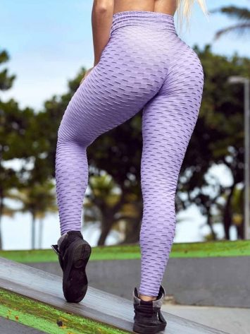 BFB Leggings – HoneyComb – Lucy Brocade Pants Unique (light purple)