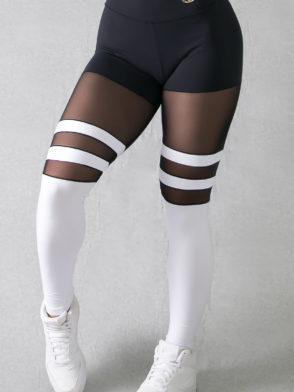 Legging Striped Socks Pants – (Black & White)