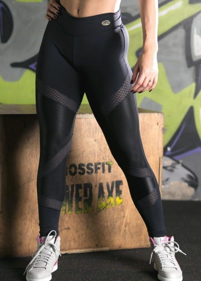 Legging - Black Detail Mesh (Cirre material)