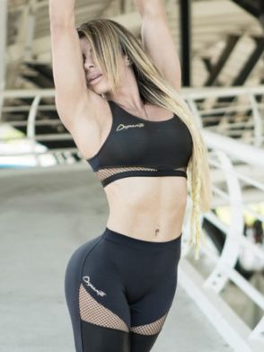 DYNAMITE BRAZIL Sports Bra Top T2096 Black Magic – Sexy Mesh Crop Tops