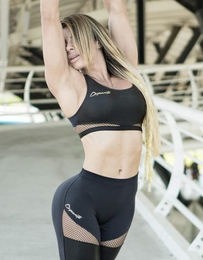 DYNAMITE BRAZIL Sports Bra Top T2096 Black Magic - Sexy Mesh Crop Tops