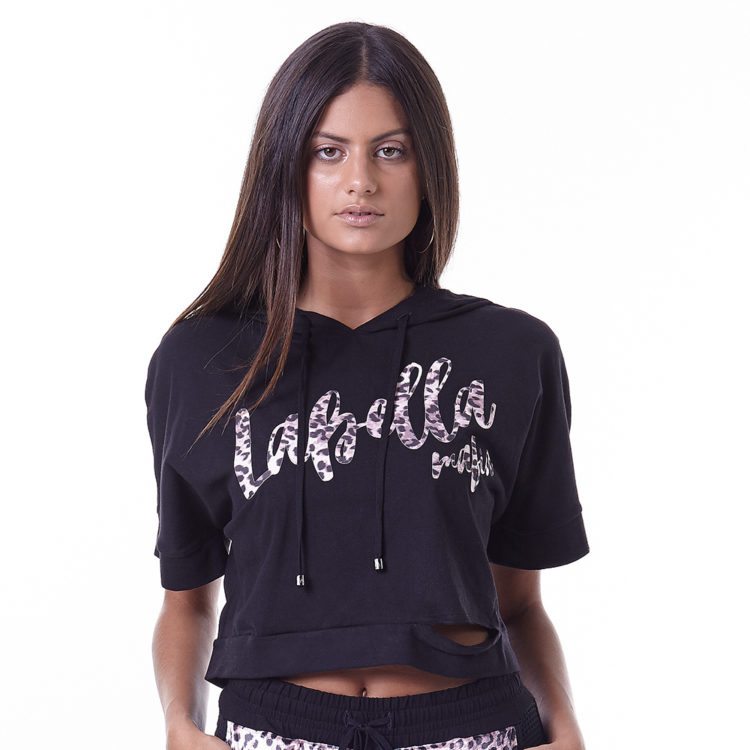 LabellaMafia Dark Metal Transparency Blouse Cropped - MBL16160