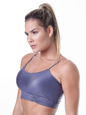 LabellaMafia Glam Rock  Shiny Fitness Sports Bra Top – FTP13841