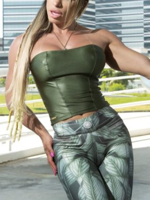 DYNAMITE BRAZIL Crop Top BL505 – Olive Blouse