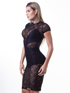 LabellaMafia Dress MVT16021 Metal Lace