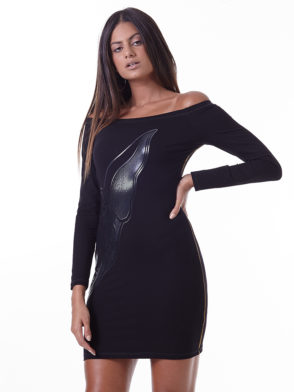 LabellaMafia Dress MVT16189 Dark Metal Long Sleeve Dress