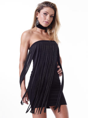 LabellaMafia Dress MVT16121 Glam Rock Fringe