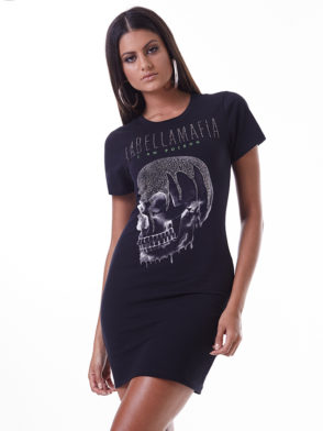 LabellaMafia Dress MVT16185 Glam Rock Skull Dress