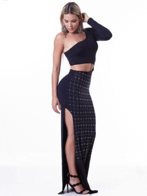 LabellaMafia Dress MVT16198 Glam Rock Split Dress
