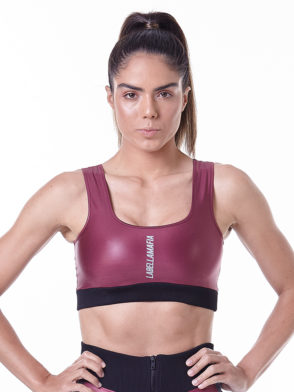 LabellaMafia Hardcore Claret Fitness Sports Bra Top – FTP13847