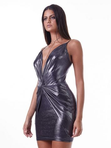 LabellaMafia Dress MVT16202 Metallic Sexy Dress