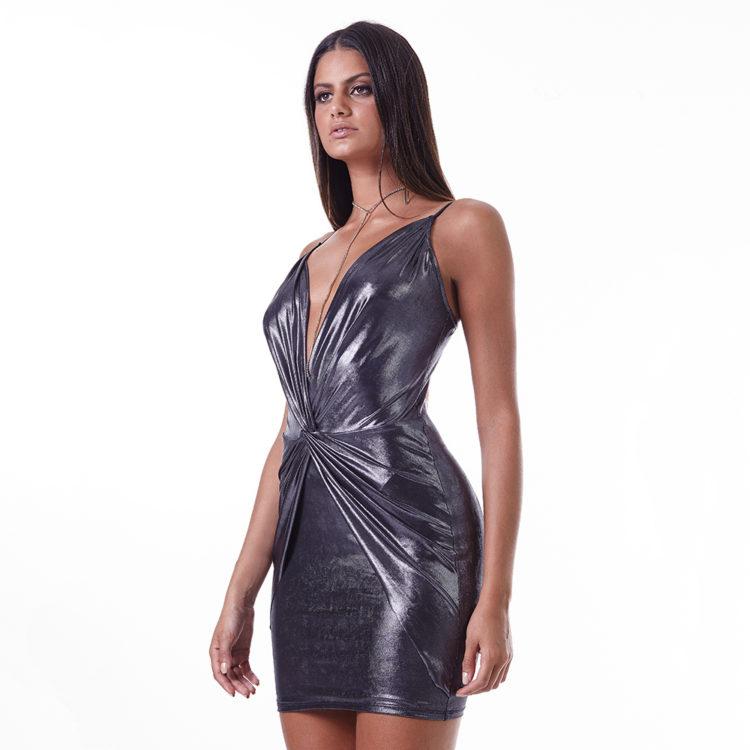 LabellaMafia Dress MVT16202 Metallic Sexy Dress