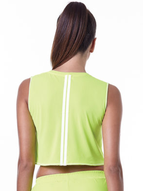 LabellaMafia Neon Lemon Cropped Top – FBL13887