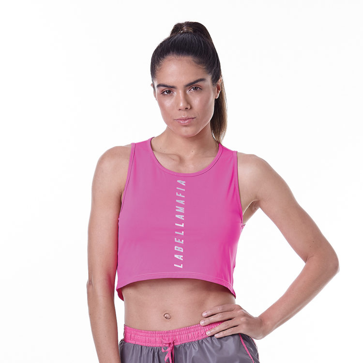 LabellaMafia Neon Pink Cropped Top - FBL13888