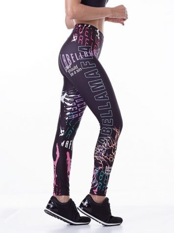 LabellaMafia Printed Lightning Legging – FCL13788