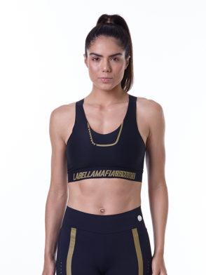 LabellaMafia Sports Bra Fineluxe Black - TCL33035