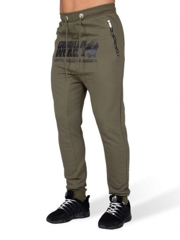 Alabama Drop Crotch Joggers – Army Green