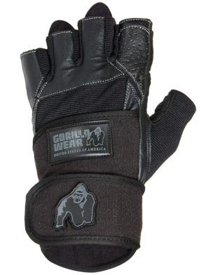 Gorilla Wear – Dallas Wrist Wrap Gloves – Black