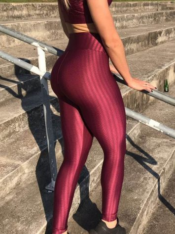 BFB Leggings – Cirre 3D Metalizada – Wine