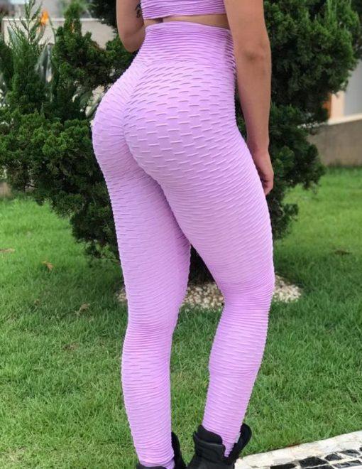 BFB Scrunchie Leggings - Empina BumBum Brocada - Purple