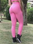 BFB Scrunchie Leggings - Empina BumBum Brocada - Pink