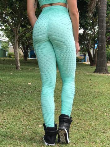 BFB Scrunchie Leggings – Empina BumBum Brocada – Mint
