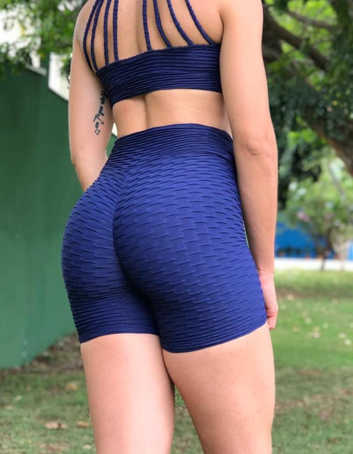 BFB Shorts- Brocade Butt - Scrunchie - Navy Blue