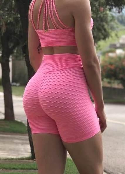 BFB Shorts- Brocade Butt - Scrunchie - Pink