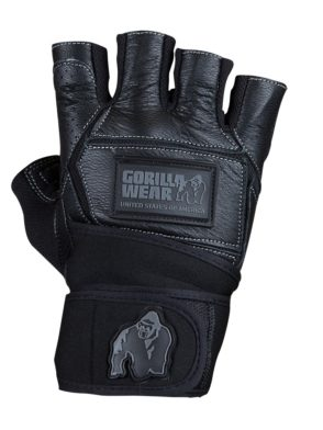 gorilla wear Hardcore Wrist Wraps Gloves Black