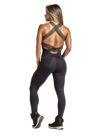 OXYFIT Jumpsuit Blind 15223 Black Sexy Rompers 1-Piece